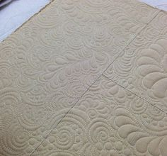 feathers, Paisleys, swirls and pebbles |  quilting is my therapy | Angela Walters | combine everything, have fun so it doesn't matter if it isn't perfect