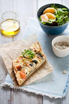 Swiss Chard & Salmon Quiche by tartelette, via Flickr