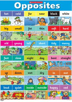 Opposites poster – Early Years teaching resource - Scholastic - include in the quiet book