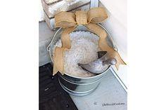 Deicer Salt Bucket with Bow | Mudroom Ideas DIY