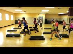 Step Cardio Choreography By Liana Santarossa July 2014 - YouTube