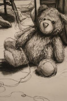 Charcoal Drawing Tips teddy. charcoal drawing Rebekah Reed Art - Rebekah Reed is an artist specializing in painting, drawing, and custom artwork. Graphite Drawings, Charcoal Drawings, Drawing Tips, Painting & Drawing, Metal Pen, Writing Pens, Love Drawings, Art Tips, Still Life