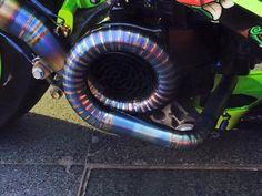 Scooter exhaust weld.
