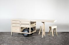 <p>COS's signature minimalist style is reaching far beyond its clothes: this time it's a mobile pop-up store that has COS written (subtly) all over it. The Swedish brand commissioned the Vienna-based