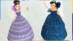 Mal & Evie Descendants Doll Cake Mal & Evie Descendants Doll CakeYou can find Doll cakes and more on our website. Cake Decorating Frosting, Cake Decorating Videos, Decendants Cake, Frozen Doll Cake, Elsa Doll Cake, Doll Cake Designs, Doll Cake Tutorial, Barbie Doll Birthday Cake, Bolo Barbie