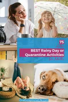What kinds of rainy day activities for adults or kids should we be doing while quarantined?  Need some stay at home inspiration?  Check out this summer fun list of indoor ideas that is perfect for any time of year.  Creative fun and boredom busters. #inspiration #findinghapoiness #positivity #oneexceptionallife #personalgrowth #familytime #christianparenting Indoor Activities For Toddlers, Rainy Day Activities, Learning Through Play, Kids Learning, Boredom Busters For Adults, Raising Godly Children, Summer Fun List, Scripture Cards, Organized Mom