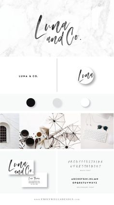 Emily Wells Design | Brand Collection | Shop Your Brand Collection Now | Budget-Friendly Premade Logo Design | Build your Brand for your Business or Blog | Clean Design | Black Palate | Creative Design | Modern  | Hand-Crafted | Organic | Loose Logo
