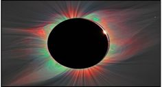 color overlay on solar eclipse image