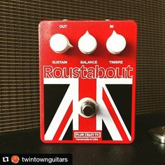 """I missed that one! Posted by @twintownguitars:  New from Plum Crazy FX is the Roustabout! Based on the very rare Burns Buzzaround famously used by Robert Fripp on the Bowie track """"Heroes""""! Come on in and take this thing for a spin!  #Bowie #fripp #knowyourtone #geartalk #gearwire #buzzaround #fuzz #tonequest #plumcrazy #plumcrazyfx"""