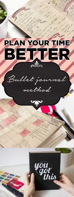 Bullet journal method will keep you organized and more productive. Try this planner and it may change your life!