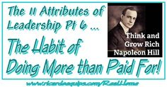 The 11 Attributes of Leadership Pt 6 The Habit of Doing More than Paid For By Apostle Ricardo Butler