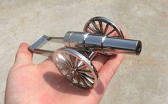 Stainless-Steel-Mini-Desk-Cannon-Black-Powder-Cannon-200-Free-balls