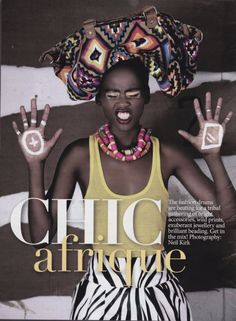 """Kaone Kario in """"Chic Afrique"""" for Glamour South Africa photographed by Neil Kirk"""