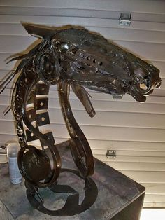 Messiah's Ride..Custome one of a kind, large scrap metal sculpture by Mark Olmstead of Post Falls Idaho..| Flickr - Photo Sharing!
