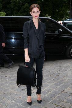 Outside the Giambattista Valli show at Paris Fashion Week.   - ELLE.com