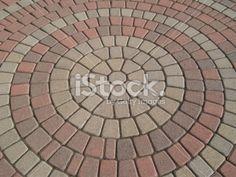 patterns for paver bricks | Circular pattern in a brick paver setting Stock Photo 3710311 - iStock