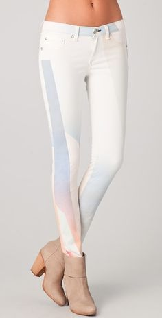 fun colorful take on white jeans soon to be in my closet (the back is even better than the front).