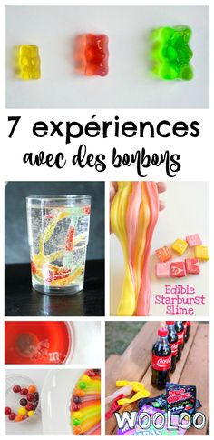 Here are 7 surprising experiments with sweets to entertain children. … - Learn and teach you Science Party, Easy Science, Science Experiments Kids, Science For Kids, Science Projects, Activities For Kids, Science Halloween, Starburst Slime, Science Experience