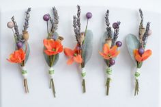 Rustic Boutonnieres  Lavender Purple and by thebreadandbutterfly, $12.00