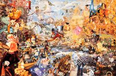 Arkadia's Last Resort; or, Fete Champetre up Mnemosyne Creek, collage by Jess Collins (1923-2004).