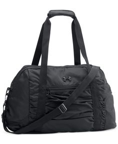 """From an evening workout to a quick overnight trip, The Works gym bag from Under Armour keeps you together on the go.   Polyester   Machine washable   Imported   Dimensions: 20.7"""" x 9"""" x 13""""   Exterior"""