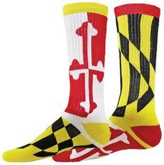 White - Medium Red Lion Solid Crew Rib Leg Design Athletic Sports Socks