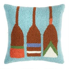 19.99-One of my favorite discoveries at ChristmasTreeShops.com: Lake Hook Oars Square Throw Pillow