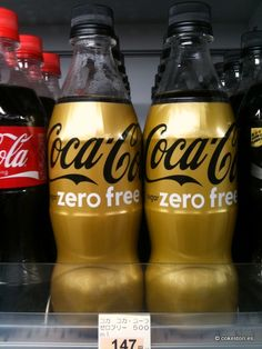 Coca-Cola Zero Free (Caffeine-free) in 500ml PET wrapped bottles distributed by Coca-Cola Japan