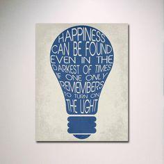 Typografie Druck / Glück finden / Dumbledore Angebot Poster / Wand Kunst / Harry Potter Poster