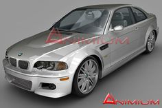 BMW M3 3d model - detailed and uvw mapped model with textures and 3ds max materials.