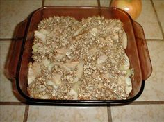 Apple Pineapple Crisp,..No Sugar, No Flour