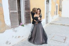 Claire LaFaye Gown, Ibiza, Spain.  Created for Romancing the Stone Styling.