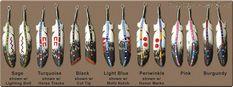 Bone feather earrings, Lonny and Michelle Cloud (Lumbee, Oglala Lakota)