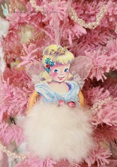 Christmas Angel Vintage Inspired Ornament Sweet, Girlie, and Shabby Cottage. $25.00, via Etsy.