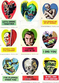 vintagegal: Vintage Valentines: Universal Horror Valentine...