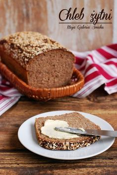 Galeria Smaku: Chleb żytni Home Bakery, Keto Bread, Bread Recipes, Banana Bread, Food And Drink, Healthy Recipes, Baking, Cake, Breads