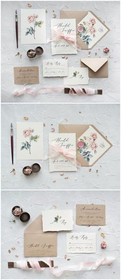 Pink Roses Calligraphy Wedding Invitations 05CGNz #weddings #weddingideas #invitations #vintage #vintageweddings ❤️ http://www.deerpearlflowers.com/botanical-wedding-inviations-from-4lovepolkadots/ #weddinginvitations