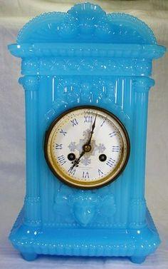 Very RARE Blue Opaline Baccarat Tiffany Co Glass Clock Early 20th Ct | eBay
