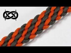 How to make a Tiger Stripe Sinnet Paracord Bracelet Tutorial (Paracord Paracord Braids, Paracord Knots, 550 Paracord, Paracord Bracelets, Paracord Tutorial, Bracelet Tutorial, Paracord Dog Leash, Knot Braid, Paracord Projects