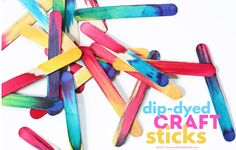 Science Art Idea: Dip Dyed Craft Sticks Project - Babble Dabble Do