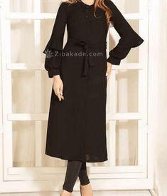 آموزش دوخت مانتو طرح هلال جلو مانتو رو صفحه 302 - زیباکده Sewing Basics, Fashion Sewing, Dresses With Sleeves, Long Sleeve, Black, Models, Templates, Sleeve Dresses, Long Dress Patterns