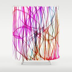 PIXEL RAINBOW Shower Curtain by Chrisb Marquez - $68.00