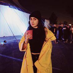 Little girl with yellow raincoat ♡