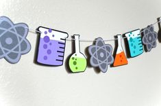 Your place to buy and sell all things handmade - Science Science Room, Science Party, Science Chemistry, Mad Science, Science Fair, Science Notes, Science Class Decorations, School Decorations, Party Girlande