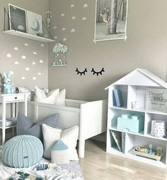 "170 Likes, 16 Comments - ZuriHouse (@zuri_house) on Instagram: ""When you go with the mint green... Lovely styled bedroom with our knitted pouffe and also with…"""