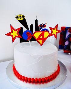 decoracion para pasteles de super heroes