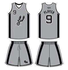 San Antonio Spurs Alternate Uniform 2013-2014