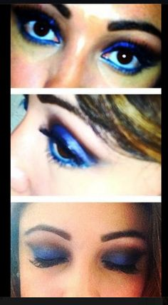 Dark blue and blue dramatic look!