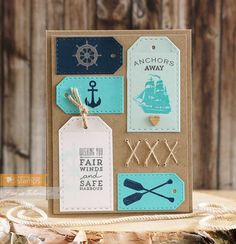 Waltzingmouse May Release Hop. - Just Give Me Stamps. Diy Cards, Men's Cards, Handmade Cards, Nautical Cards, Its A Mans World, Masculine Cards, My Stamp, Just Giving, Stampin Up Cards