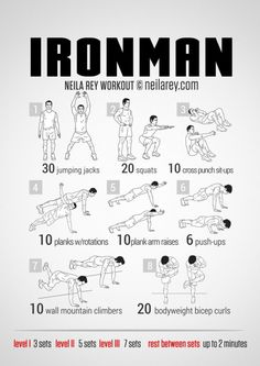 Awesome marvel themed work outs.